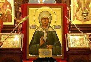 Молитва благодарности Матроне Московской